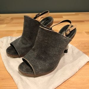Cheap Monday Metal Heel Stiletto Mule Sandals 36